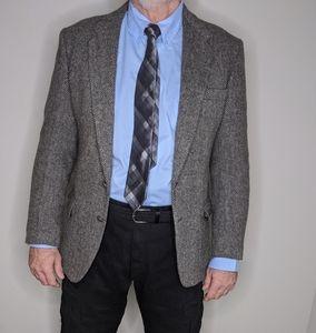 Pure Wool Blazer Winter Herringbone